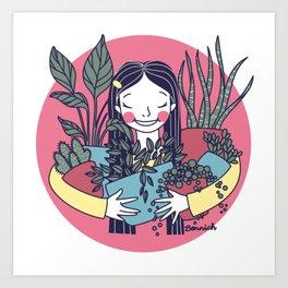Houseplant Hugger Art Print