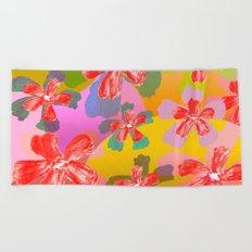 Flowers Attitude Beach Towel