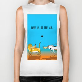 Love is in the air Biker Tank
