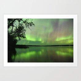 Aurora Borealis Reflection Art Print
