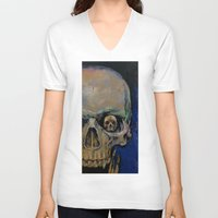 vampire V-neck T-shirts featuring Vampire by Michael Creese