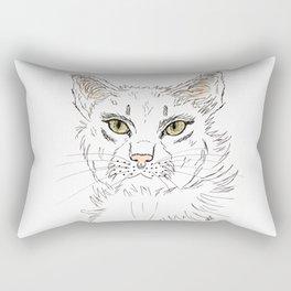 Anger cat lady Rectangular Pillow