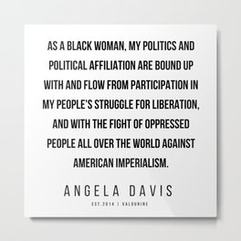 48     |  Angela Davis | Angela Davis Quotes |200609 Metal Print
