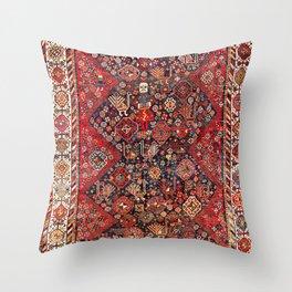 Qashqa'i Fars Southwest Persian Nomad Rug Print Throw Pillow