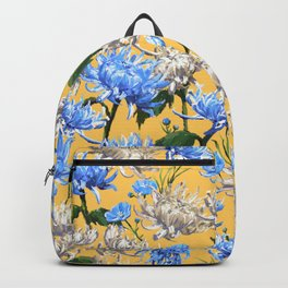 Mums Pattern  |  Yellow-Blue-Cream-White Backpack