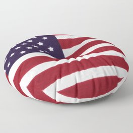 American flag with painterly treatment Floor Pillow