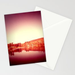sunset moon. Stationery Cards