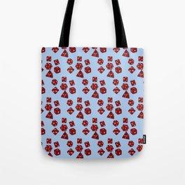 Dice Everywhere - Garnet Red Tote Bag