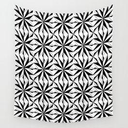 black and symetric patterns 1- Wall Tapestry