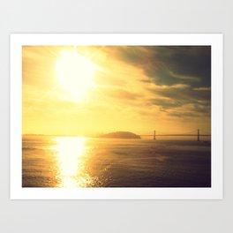 Sunrise Bay Bridge Art Print