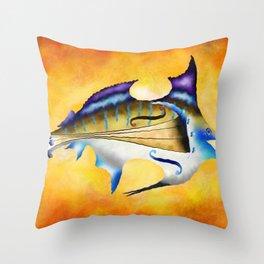 Marlinissos V1 - violinfish Throw Pillow