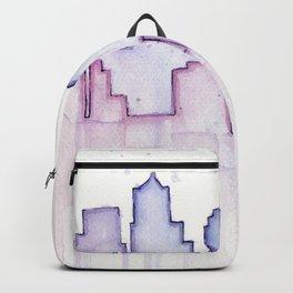 Seattle Skyline Watercolor Backpack