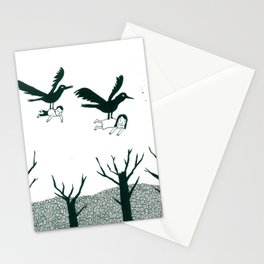 Ravens Carry You Away Stationery Cards
