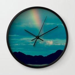 Flash of Rainbow Wall Clock