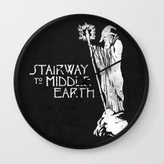 stairway to middle-earth Wall Clock