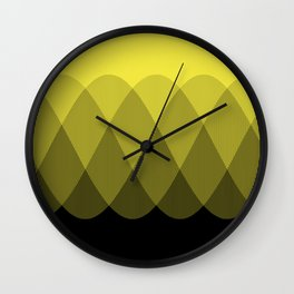 Yellow Ombre Signal Wall Clock