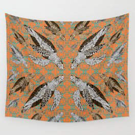 Flotilla of Sea Turtles III Wall Tapestry