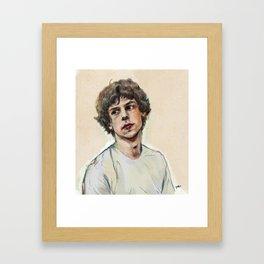 Jesse in Adventureland Framed Art Print