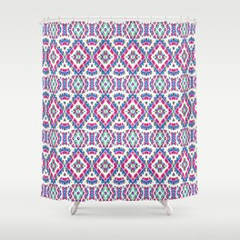 Colorful Folk Style Pattern Shower Curtain