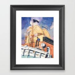 Rowhouse Framed Art Print