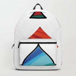 Spades Heart Cross Diamonds Poker Colored Nature Gift Backpack