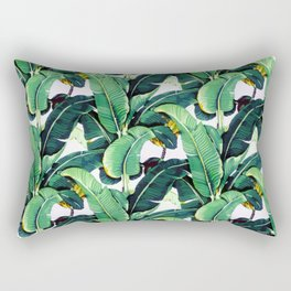Tropical Banana leaves pattern Rectangular Pillow