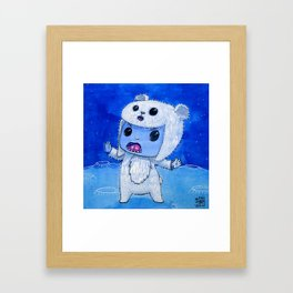 Moonkhin Iridum Snow Framed Art Print
