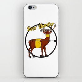Deer Beer Bottle Cross Hair Hunter Shooting Party Bar Alcohol Gift Idea iPhone Skin