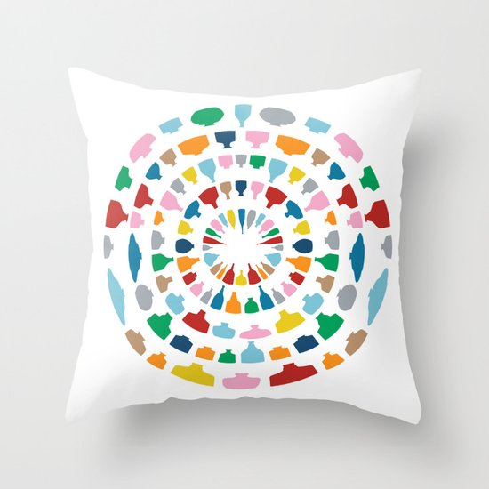 Wine o'Clock on White Throw Pillow