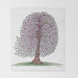 A tree of legend Throw Blanket