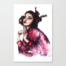 Geisha Girl // Fashion Illustration Canvas Print