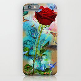 A Rose in Time iPhone Case