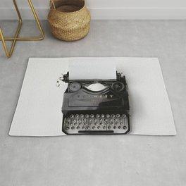 Vintage typewriter Rug