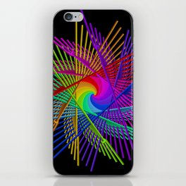 colors on black -2- iPhone Skin
