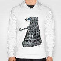 dalek Hoodies featuring Dalek by Rebecca Bear