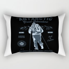 Antarctica Gift Idea Design Motif Rectangular Pillow
