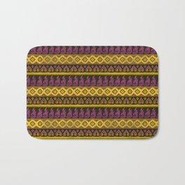 Thai Fabric Patterns - Thai Airways Colour Palette Bath Mat