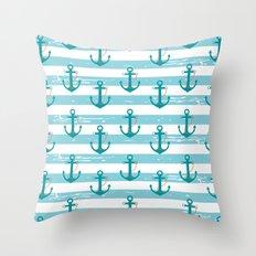AFE Nautical Anchor Pattern Throw Pillow