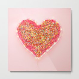 Rainbow sprinkles Metal Print