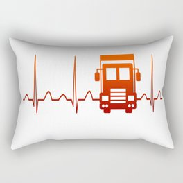 TRUCK DRIVER HEARTBEAT Rectangular Pillow