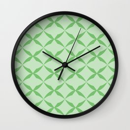 mint kiss Wall Clock