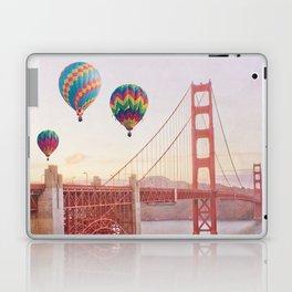 Golden Gate Bridge and Hot Air Balloons Laptop & iPad Skin