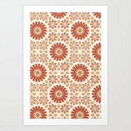 Moroccan Earth Tones Pattern Art Print