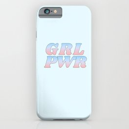 grl pwr iPhone Case