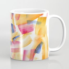 180719 Koh-I-Noor Watercolour Abstract 5| Watercolor Brush Strokes Coffee Mug
