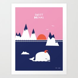 Little Whale Art Print
