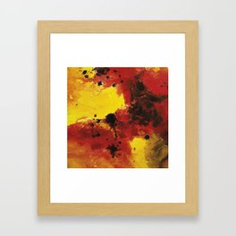 colorful modern abstract mixed media painting 10 Framed Art Print