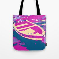 boat Tote Bags featuring Boat by DistinctyDesign