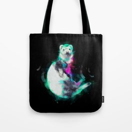 Painted Ferret Tote Bag