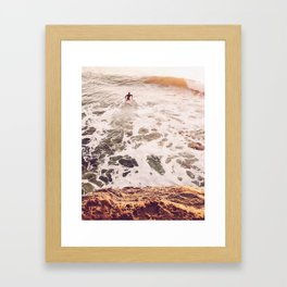 SunsetSurfing Framed Art Print